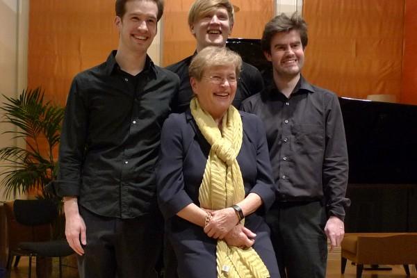 Mit Brigitte Feldtmann