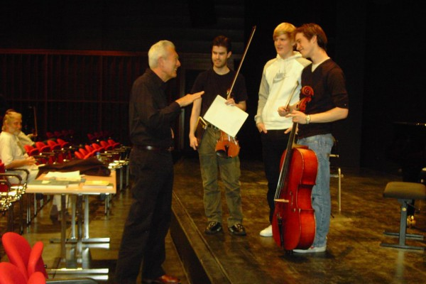 Mit Arnold Steinhardt (Guarneri Quartett) in Hamburg