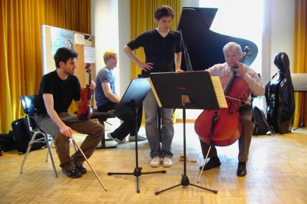 Mit Valentin Erben (Alban-Berg-Quartett) in Hamburg